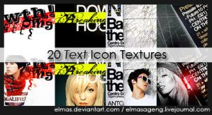 20 Text Icon Textures by Elmas