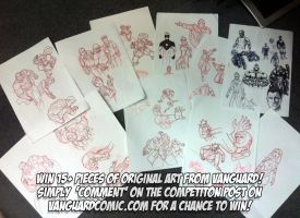 COMPETITION: Win 15+ pieces of Vanguard Comic Art by MrHades