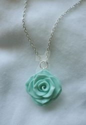 Mint Rose Necklace ~ For sale! by paperfaceparade