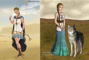 Artemis, Goddess of the Hunt and Children by TFfan234