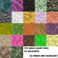 Camo pack TF2 colors by Nikolad92