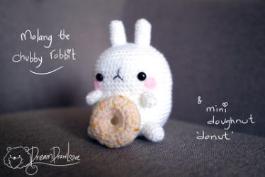 Molang the chubby bunny  by Loilie