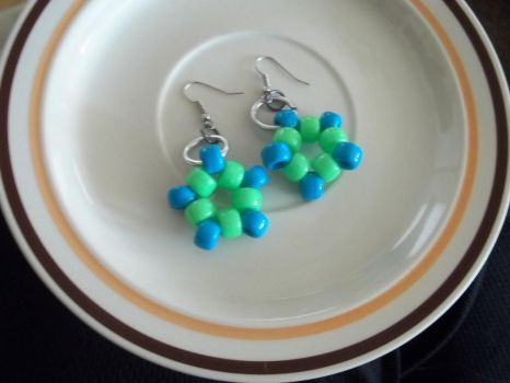 Kandi Star Earrings Pair 3 by jenneilicious