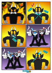 Beat Devil in Cup Fiction style by RoseMary1315