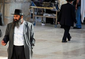 Man at the Western Wall, 2 by dpt56