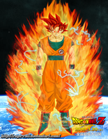 Ssjg Goku with aura by ruga-rell