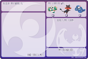 Pokemon Moon Trainercard [FREE TO USE]