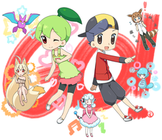 Kinji's Pokemon Team by drill-tail