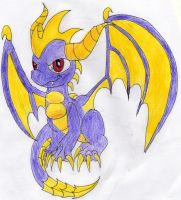 Skylanders Spyro - Coloured by wubsontoast