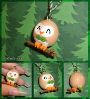 Pokemon - Rowlet Charm Necklace - Alola Starters
