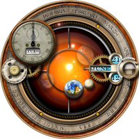 XWidget Skin for the Steampunk Orrery and Clock by yereverluvinuncleber