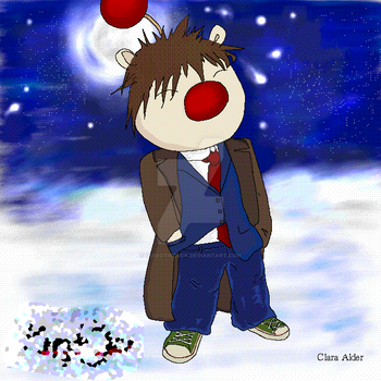 David Tennant. As a moogle... c. 2006 by quixoticduck