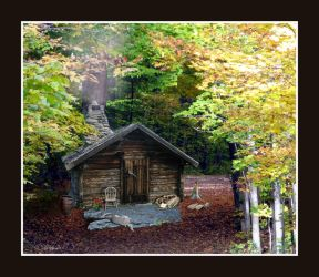 Cabin in the Woods by Loulou13