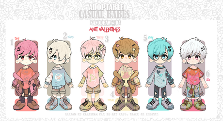 Adopt: Casual Babes Batch Anti Valentines [2 LEFT] by amepan
