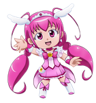 Precure: Smile: Light of the Future Cure Happy by Vulpixi-Misa