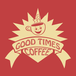 good times coffee logo by lokister