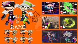 Callie and Marie Super Smash Bros. Moveset by Hyrule64
