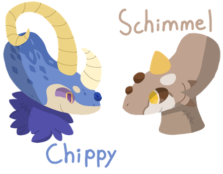 [Comm] Chippy and Schimmel by IronKnightKarkat