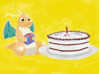 Dragonite's birthday by Adoramereku