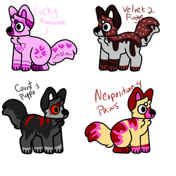 10 pt puppers (2/4 open) by nostoppingme
