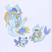 Water starter Fakemon by why-so-cirrus