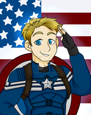 Captain America by Twisted-Sketch