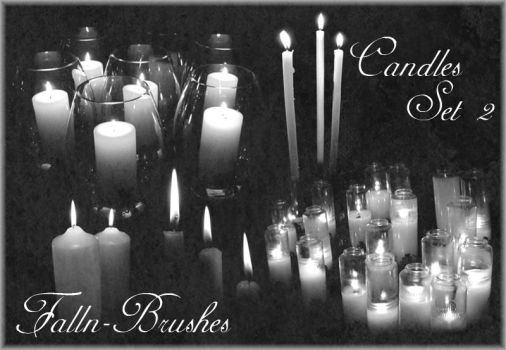 Candles Brushes Set 2 by Falln-Stock