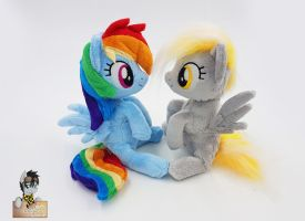 Dash and Derpy mini beanies by Epicrainbowcrafts