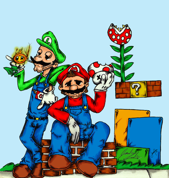 Super Mario Brothers by Don-Blox