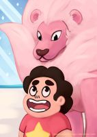 Steven and Lion! by blacksapphiredragon
