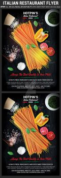 Italian Restaurant Flyer Template by Hotpindesigns