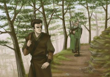 Zuko and Iroh by silent-clarion