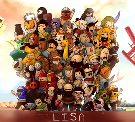 -Lisa: The Painful RPG- (Poster) by Kaifeii