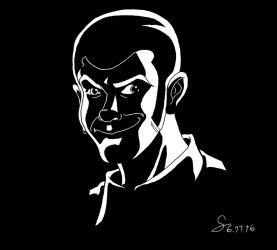 Lupin III: Shadowy Lupin portrait by ShinRedDear