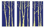 Triptych of Birches by mivanova