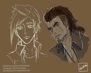 Prompto and Gladio by FloraxDarkshines
