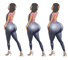 Jailyne Ojeda ass expansion by marcel19