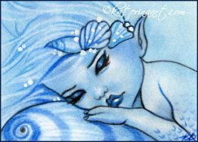 Beneath the water ACEO sketch by Katerina-Art