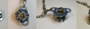 Cogwash - Beaded Bobbin Steampunk Necklace by DanielleDucrest