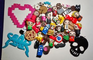 Polymer Clay charms by HeeLash