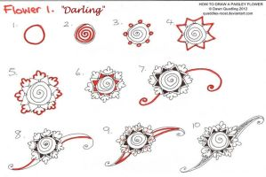 How to draw Paisley Flower 01 Darling by Quaddles-Roost