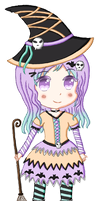 .: Halloween adopt #1 [Closed] :. by Angelinia