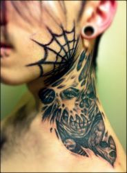 neck tattoo by Peter-Ortiz