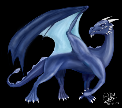 Berlioz the dragon by ElQwerty