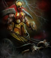 Thor - God of Thunder by RavenMorgoth