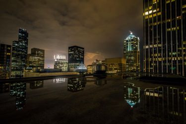 Cityscape Reflections by 5isalive