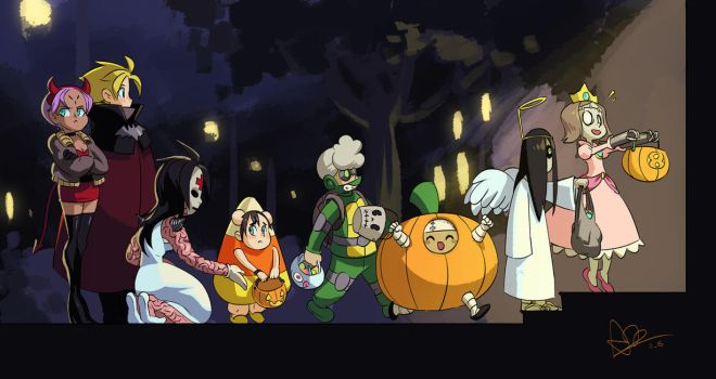 Happy Halloween from Ileum and friends by oh8