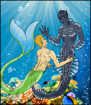 Spirk merman!au by scherwood