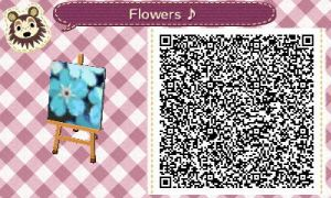 Blue Flowers QR Code by BaptizedInAFirefight
