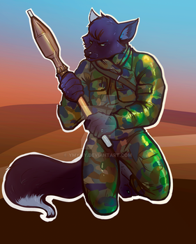 furry warrior by ymymy